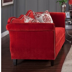 Sofas U Love Burbank Thomasville Sofa Tables Zaffiro Set In Ruby Red - Shop For Affordable Home ...