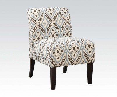 blue pattern accent chair wedding chairs hire hertfordshire ollano fabric shop for affordable home furniture