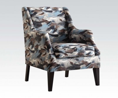 blue pattern accent chair chippendale dining zarate fabric shop for affordable home furniture