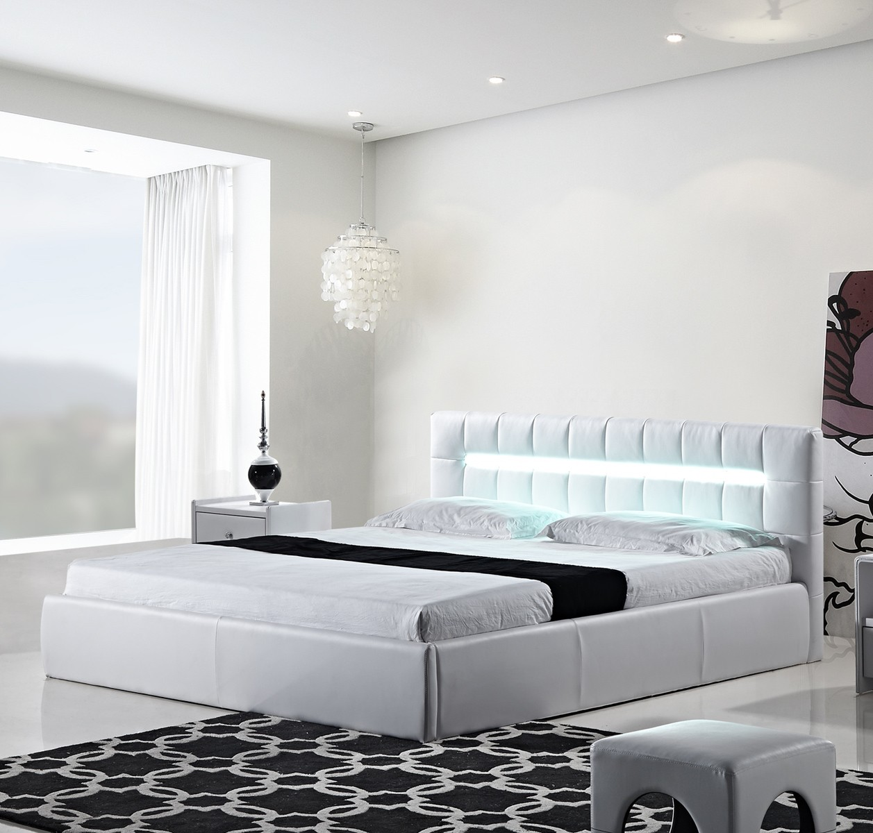 White Cal King Storage Platform Bed Shop For Affordable Home Furniture Decor Outdoors And More
