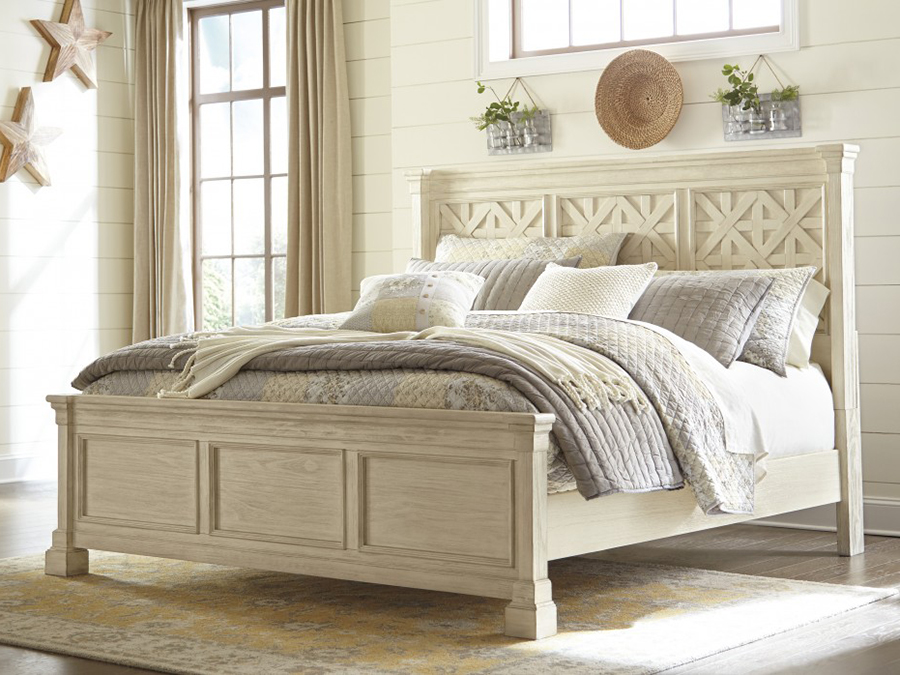 bolanburg cal king panel bed in antique white shop for affordable home furniture decor outdoors and more