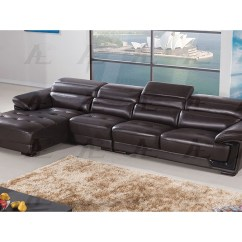 Leather Sofa Phoenix Arizona Super Store Fire Video Modern 3pcs Dark Chocolate Right Chaise Sectional ...