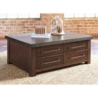 Starmore Brown Rectangular Cocktail Table With Storage ...
