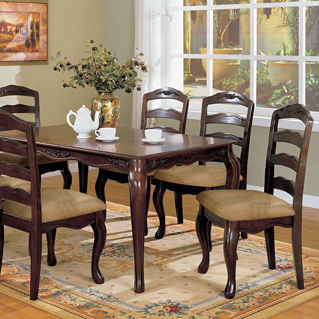 60 inch kitchen table pull down faucet reviews townsville contemporary dark walnut dining set shop