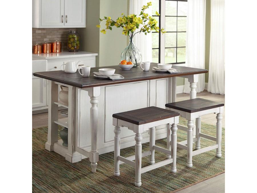 Bourbon County Kitchen Island Table W Drop Leaf Set Shop For