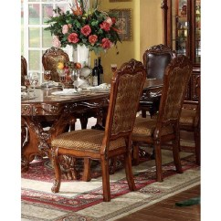 Fabric Side Chairs Iron Patio 2pcs Chair In Cherry Oak Shop For Affordable Home