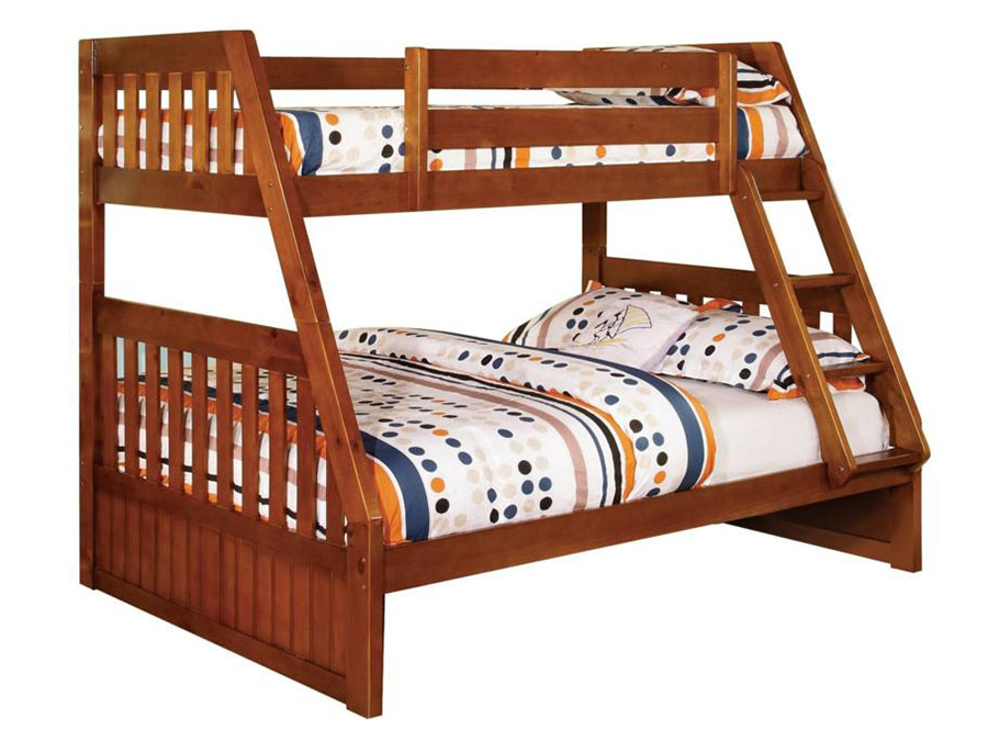 canberra oak twin over full bunk bed shop for affordable home furniture decor outdoors and more