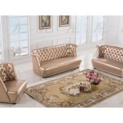 Gold Leather Sofa Set Designer Sofas For Sale 3pcs Rose Faux Shop Affordable Home