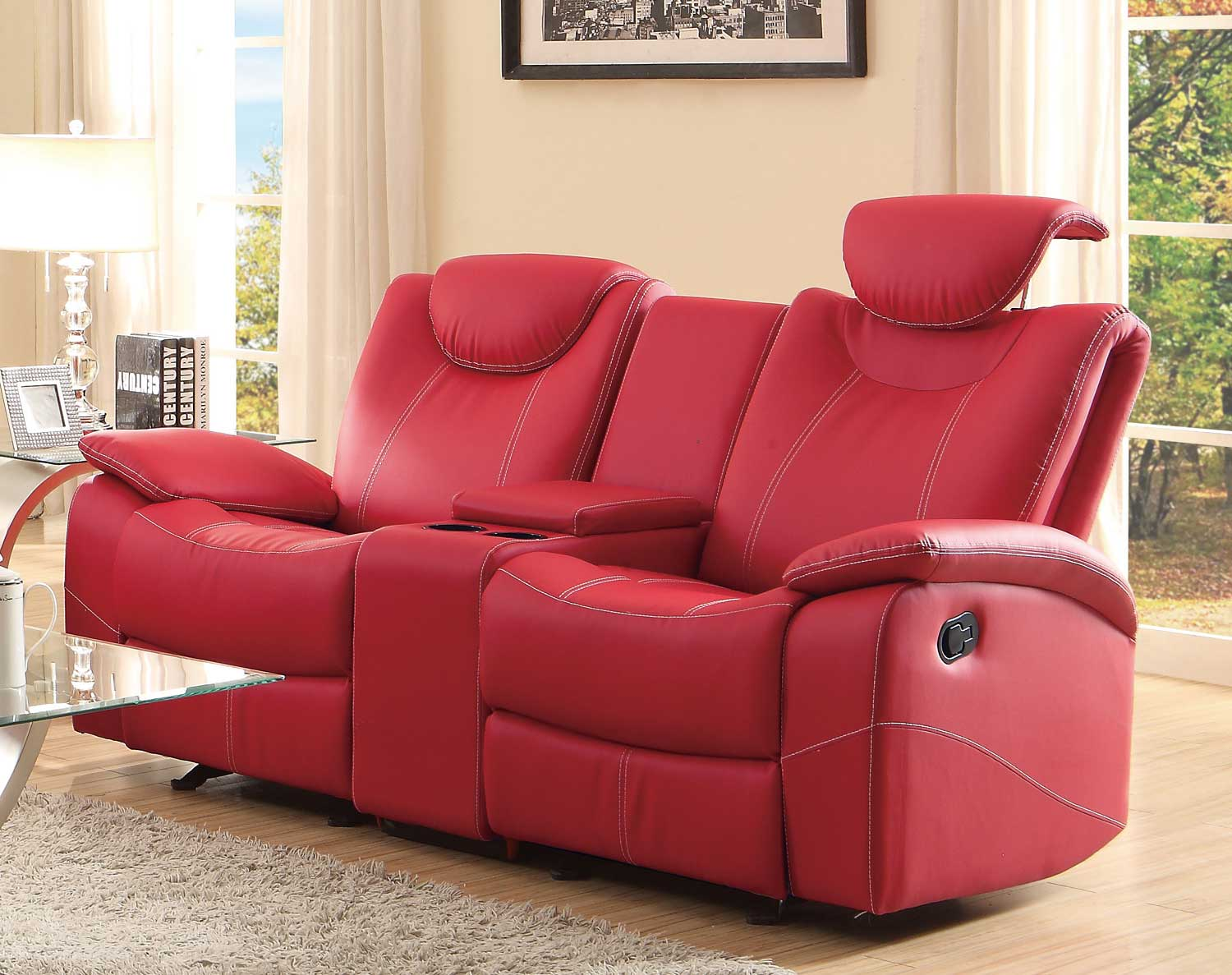 red recliner chairs hair washing chair talbot reclining love seat in shop for affordable home