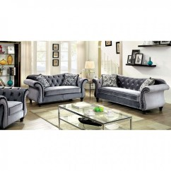 Glam Sofa Set Silk Jolanda Grey Shop For Affordable Home Furniture Decor