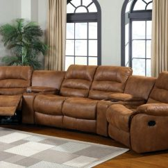 Justin Ii Fabric Reclining Sectional Sofa Without Back India Manchester Brown Leather Like 2 Recliners