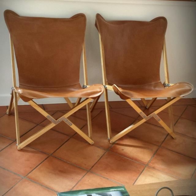 Tripolina by muumuu folding butterfly chair