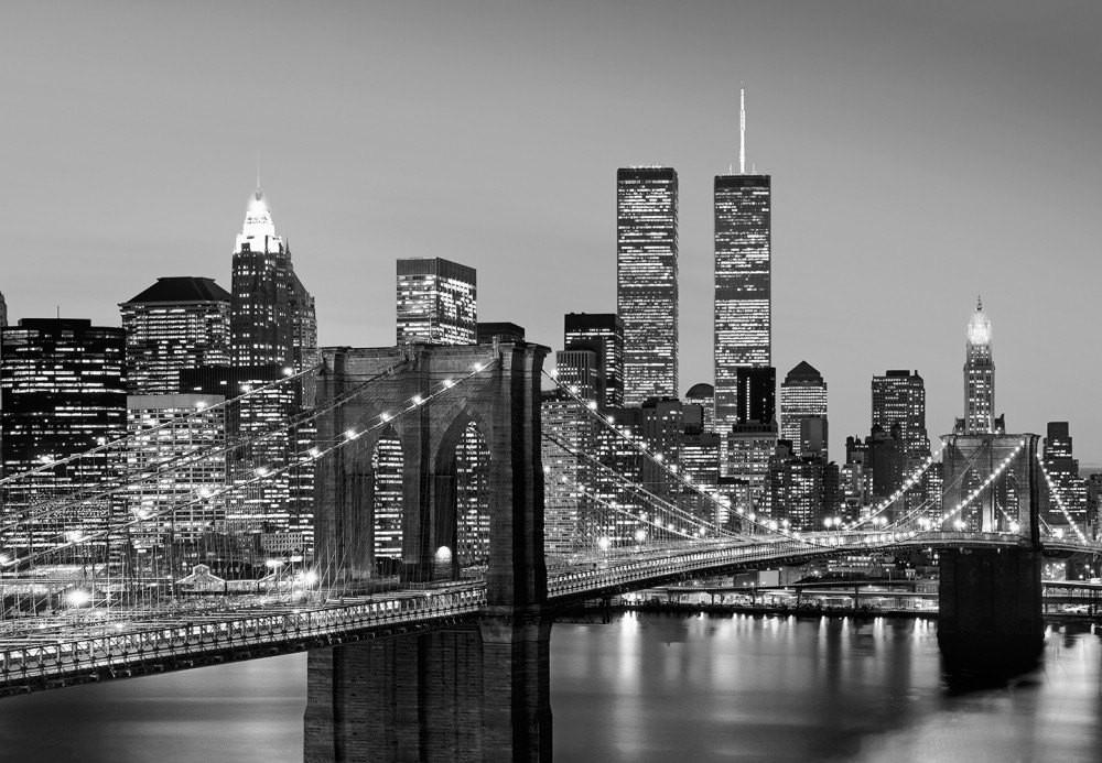 Fotobehang Brooklyn Bridge  New York behang  Muurmodenl