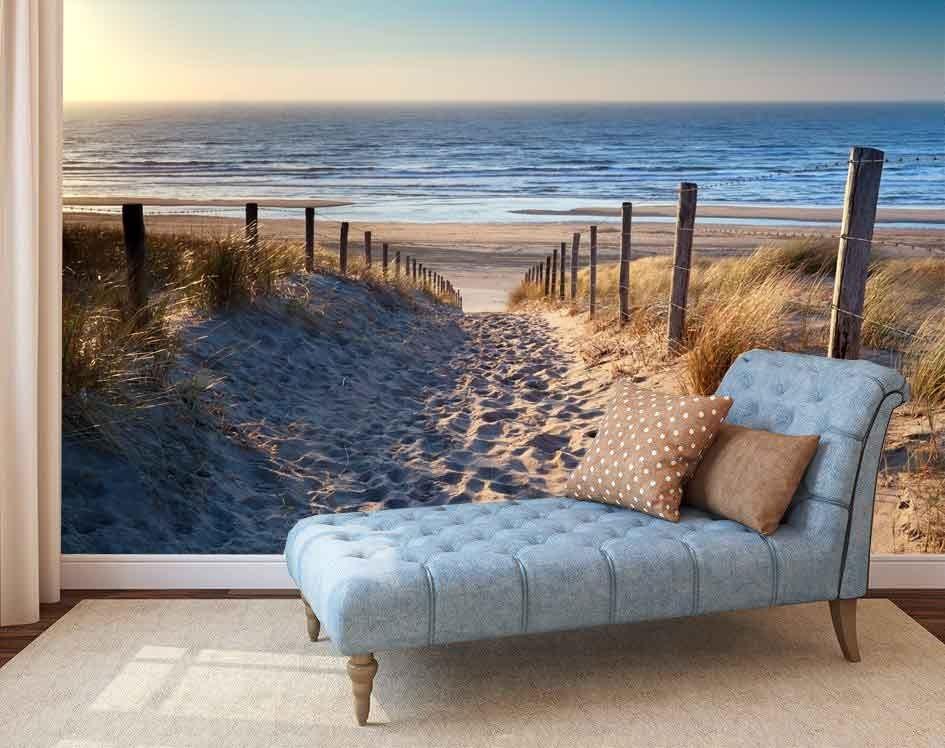 Vlies fotobehang Strand Noordzee  Muurmodenl