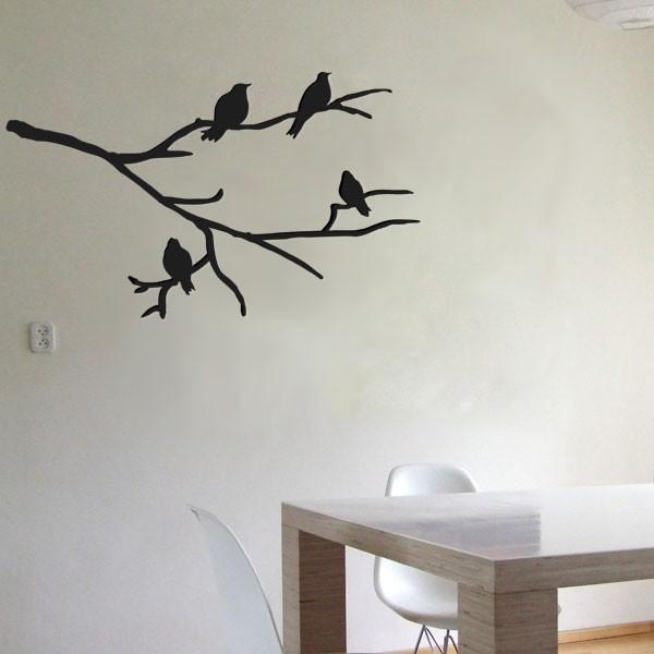 Muursticker Tak met vogels  Muurmodenl