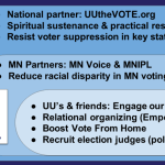 Illustration of three circles of contact for UU the Vote that are described below