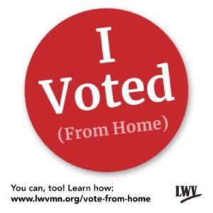 I Voted sticker from LWVmn.org