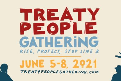 poster for Treaty People Gathering June 5-8 2021