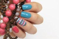 Summer to Fall chevron nails  Mari's Nail Polish Blog