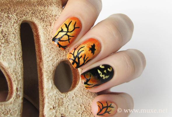 Halloween 2013 in black and orange – Mari's Nail Polish Blog
