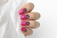 Pink nails with microbeads