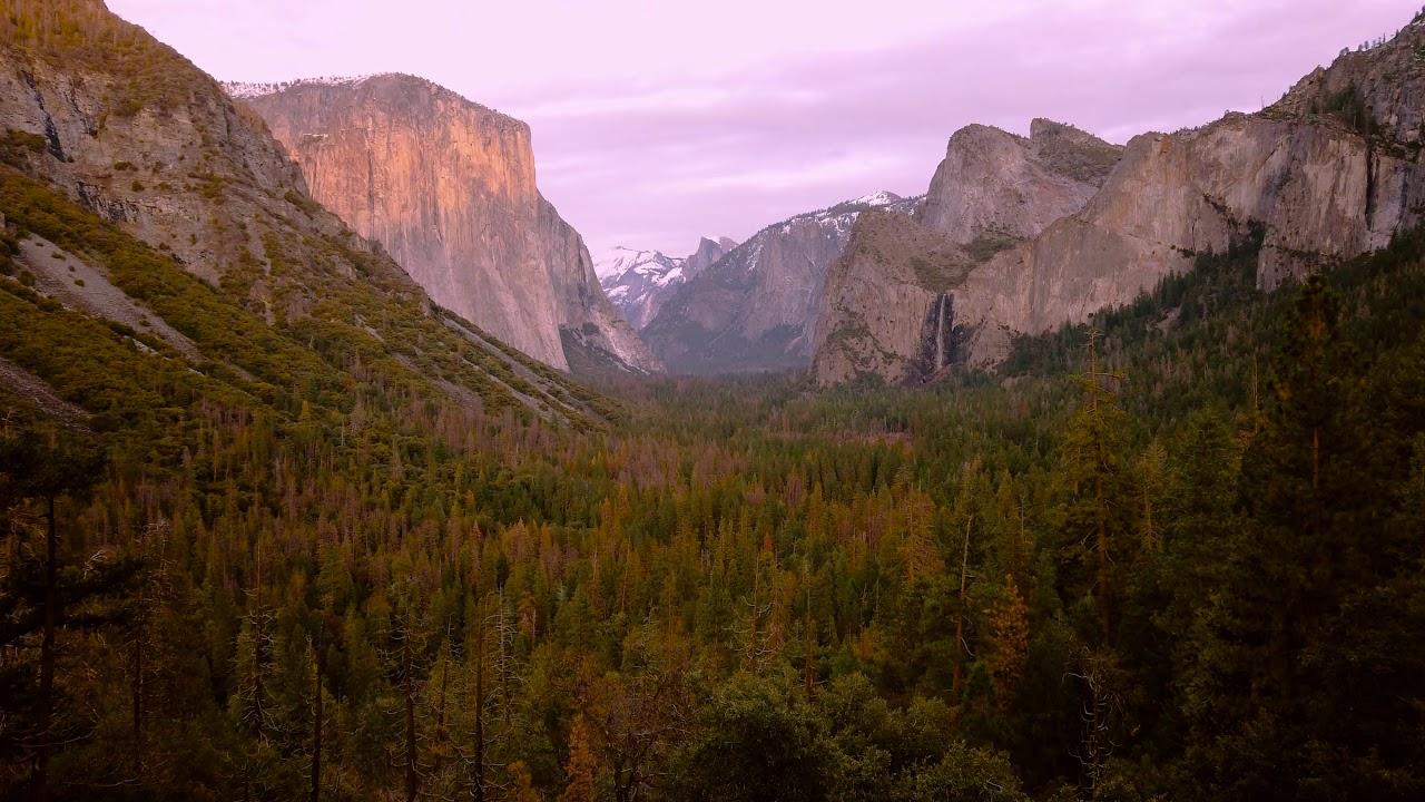 Yosemite-National-Park-California-in-Winter-4K-Video