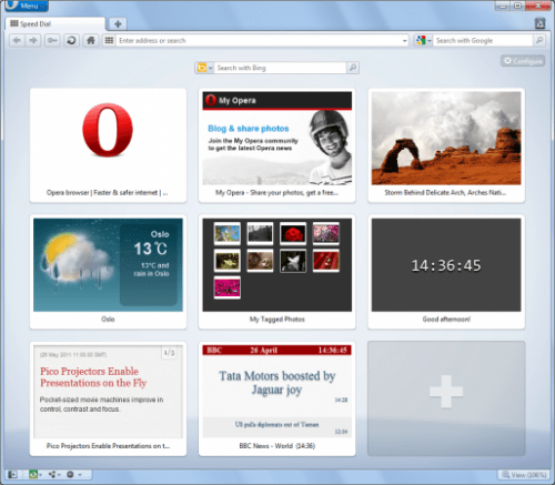 Speed Dial with Extensions2 514x450 500x437 Opera 11.50 Swordfish