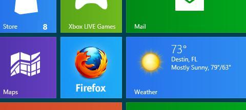 metro start Primeras imágenes de Firefox para Metro
