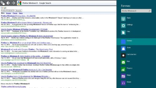 screenshot search charm 500x281 Primeras imágenes de Firefox para Metro