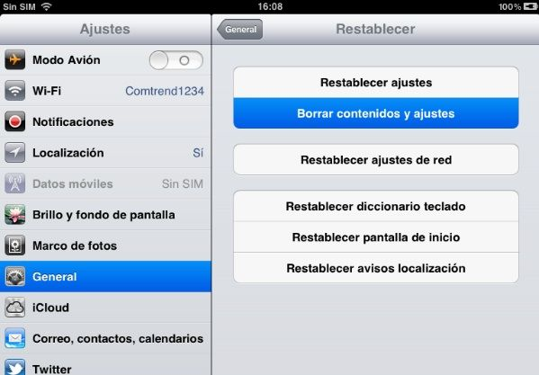 reset Guía Jailbreak untethered iOS 5.1.1 con Absinthe 2.0 para iPhone, iPod touch y iPad