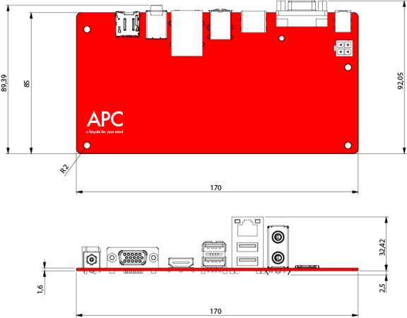 apc outlines 576x450 VIA APC, micro PC Android por 49 dólares