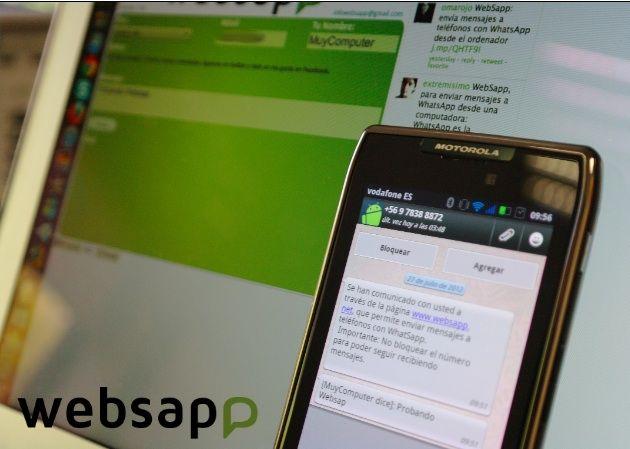 websapp Envía mensajes WhatsApp desde tu navegador con Websapp
