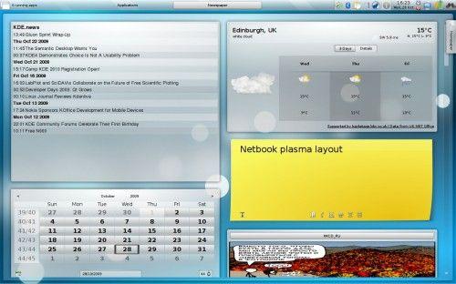 Kubuntu Netbook Edition 9.10