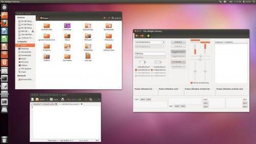 ubuntu11.10 default theme ambiance 500x281 Disponible Ubuntu 11.10 Beta 1