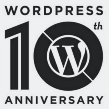 wordpress 10 anniversary1WordPress cumple 10 años ¡Felicidades!
