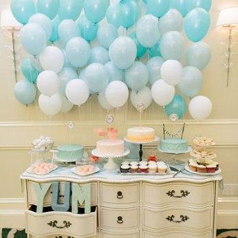 Decoración para Baby Shower con globos para niño