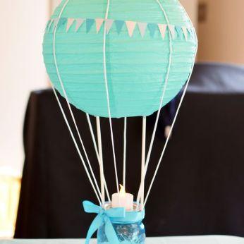 Idea para Baby Shower con globo aeroestático