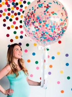 Manualidades para Baby Shower con globos gigantes