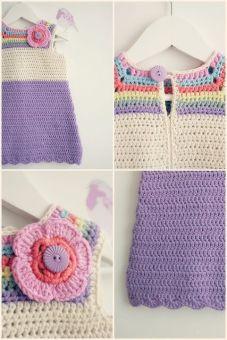 Manualidades de ganchillo para bebés vestido