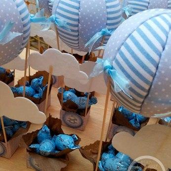 Manualidades para Baby Shower de niño con globos