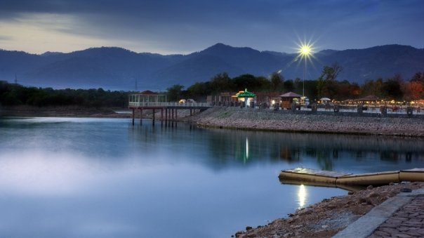 Artificial Rawal Lake in Islamabad