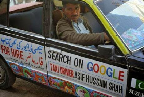 Search Me on Google Taxi Driver Asif Hussain Shah