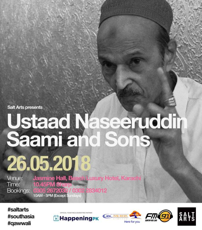 Salt Arts Presents Ustaad Naseeruddin Saami LIVE in Karachi
