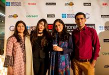 The TEDxLahoreWomen team along with speaker Mehreen Shahid