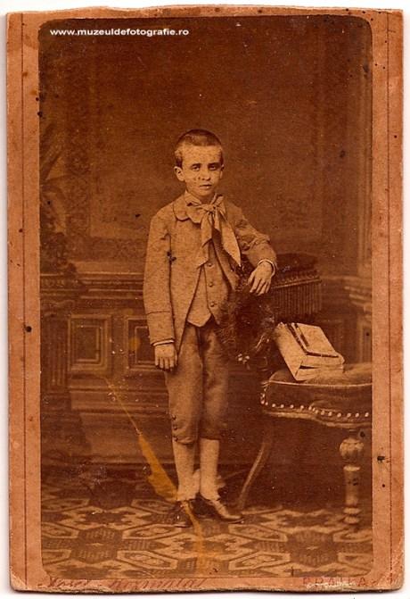 Georghe Gheorghiu fotografiat de Josef Kosmata in 1885