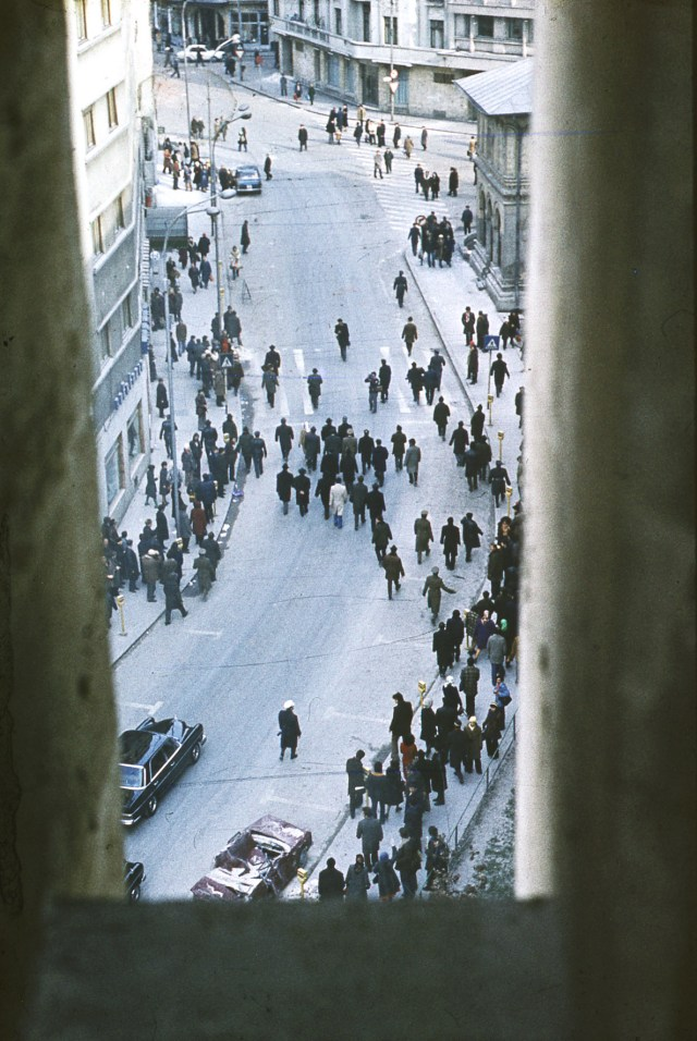 Imagine realizata pe strada Academiei