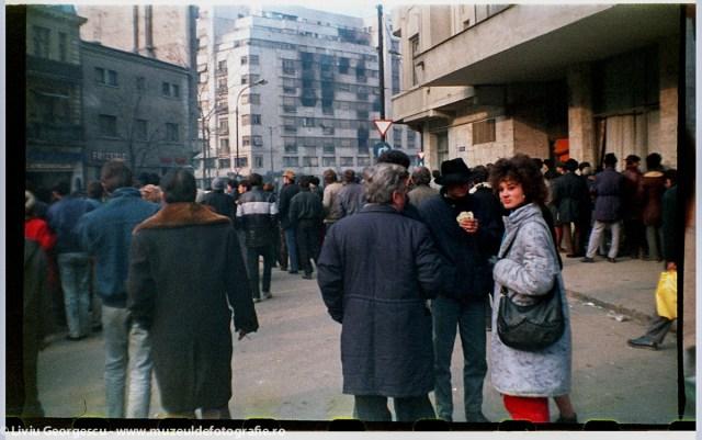 Strada Biseria Enei, spre Ion Campineanu - 24.12.1989 - Foto:  Liviu Georgescu