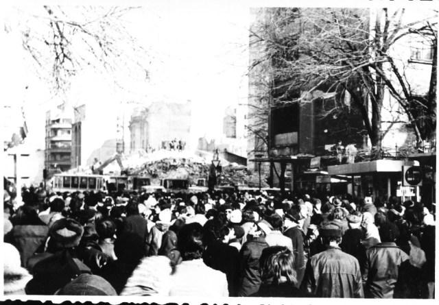 """""""Blocul """"Scala"""", prabusit in urma cutremurului. Bucuresti 7 martie 1977"""""""