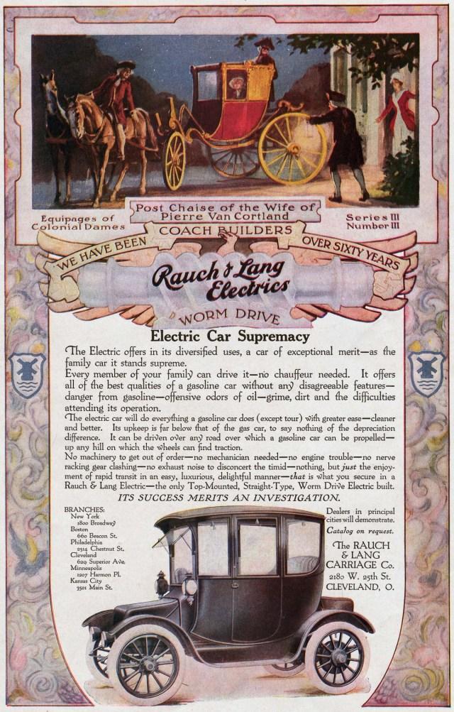 cca. 1910 - O reclamă pentru o mașină electrică.