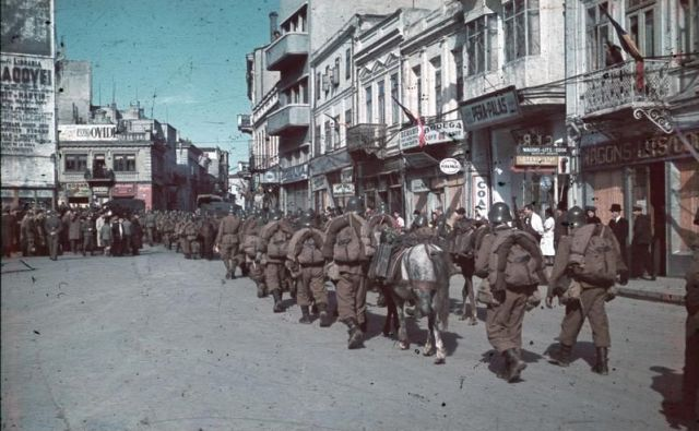 Soldiers Marching in Constanta, Romania